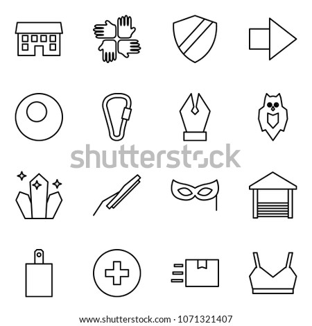 flat vector icon set   house