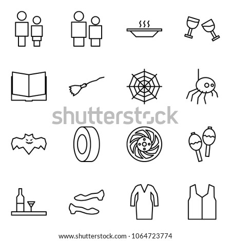 flat vector icon set   man and
