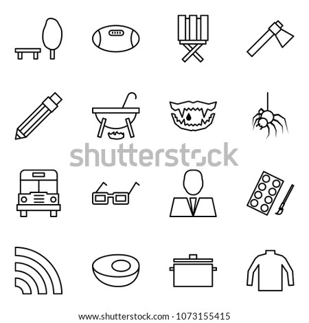 flat vector icon set   park