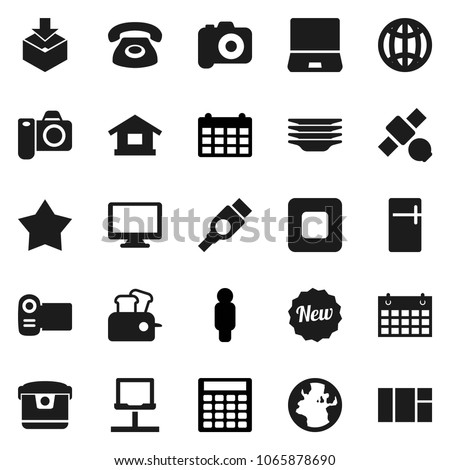 flat vector icon set   plates