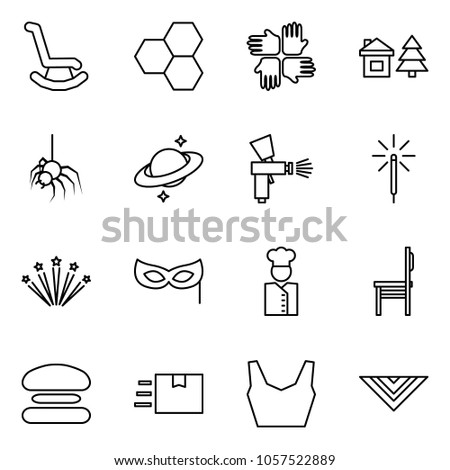 flat vector icon set   rocking
