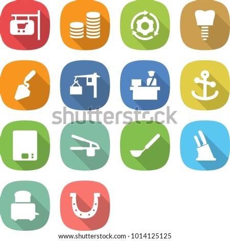flat vector icon set   shop...