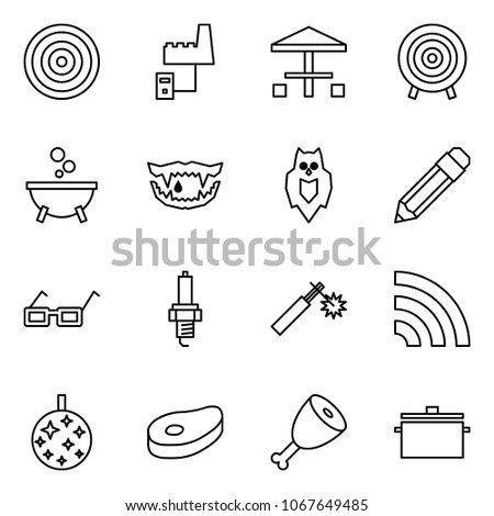 flat vector icon set   target