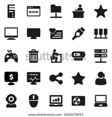 flat vector icon set   trash