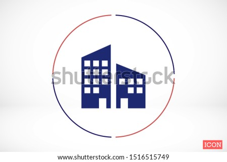 Flat vector icons. Apartment for sale. Apartment for Family. Apartment for living. flat design.