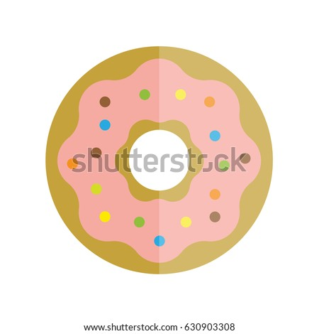 flat vector illustration donut