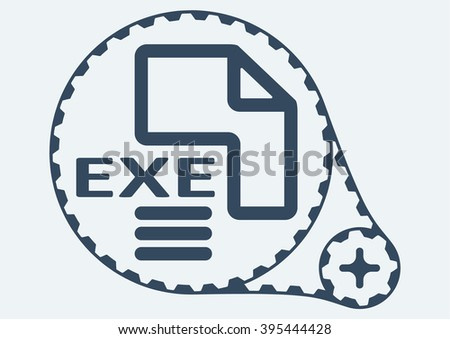 EXE Vector Icon - Download Free Vector Art, Stock Graphics
