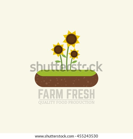 flat vector illustration farm