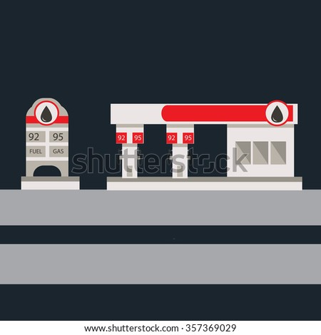 flat vector illustration gas