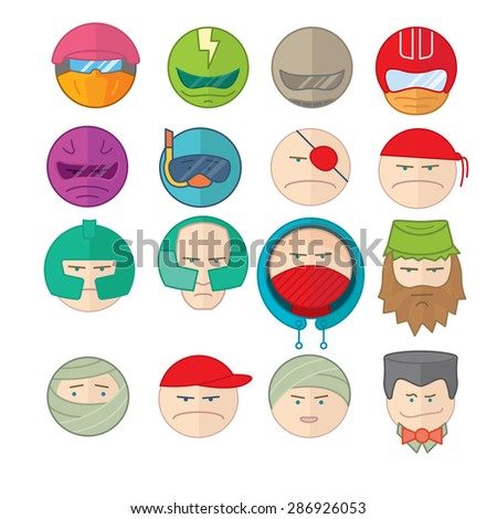 flat vector illustration icons