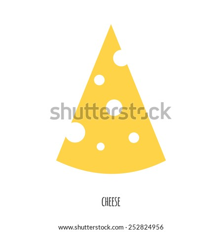 Flat vector illustration Pieces of cheese