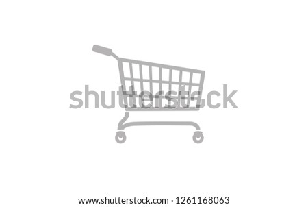 Flat vector image of a shopping cart