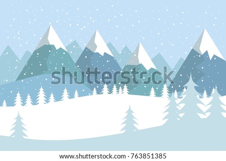 flat vector landscape with