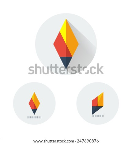 flat vector logo variants of