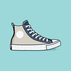 Flat vector of sneakers shoes