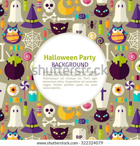 flat vector pattern halloween