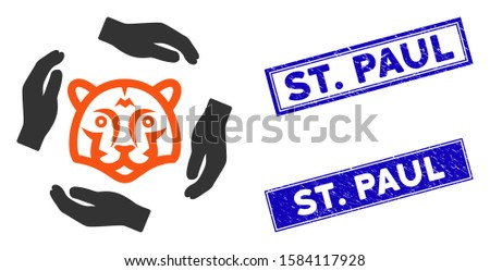 flat vector save tigers icon