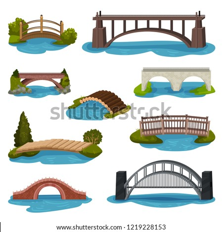flat vector set of different