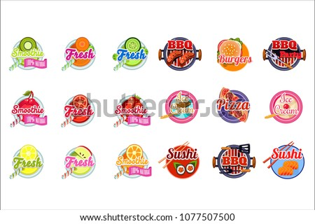flat vector set of stickers for