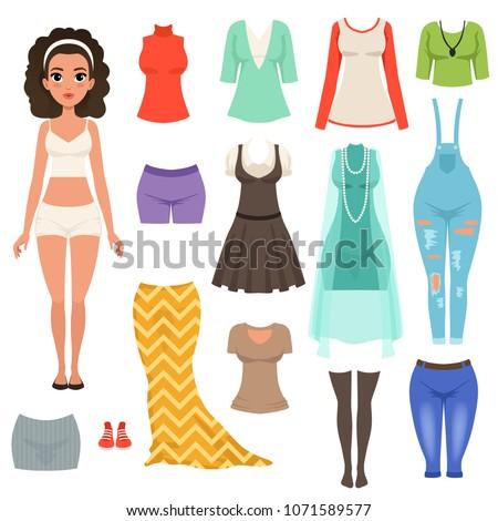 flat vector set of women s