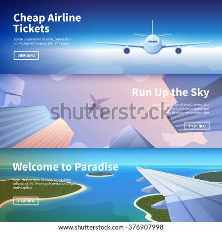 flat vector web banners on the