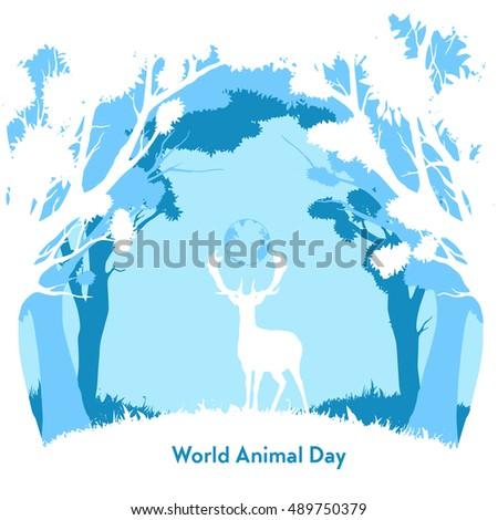 flat  vector world animal day