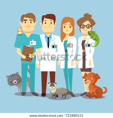 flat veterinarians staff with