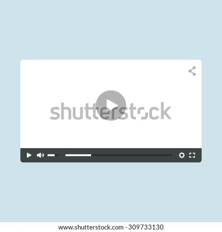 flat video player template for