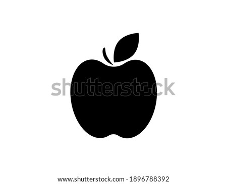 flat web black apple icon