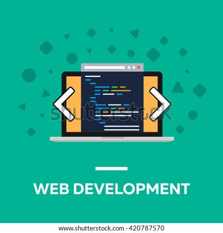 flat web development notebook