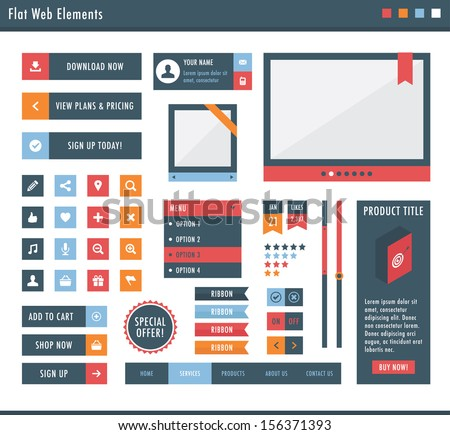 Flat web elements