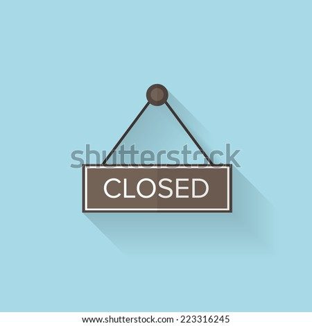 flat web icon closed