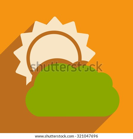 flat with shadow icon and