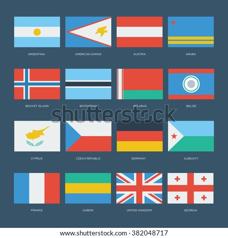 flat world flags