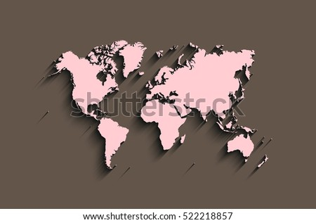 flat world map abstract vector