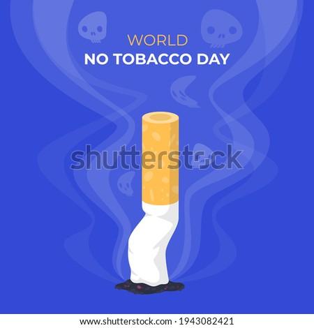Flat world no tobacco day illustration Vector illustration. Stock photo ©