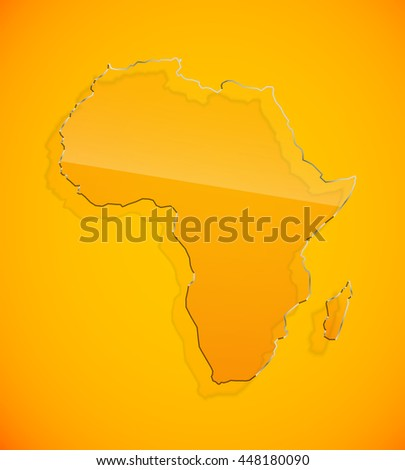 flat yellow african continent