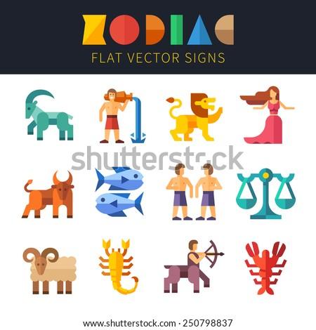 flat zodiac signs  astrology