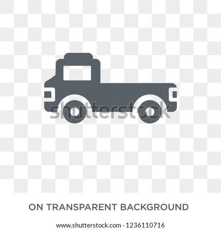 flatbed lorry icon. flatbed lorry design concept from Transportation collection. Simple element vector illustration on transparent background.