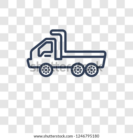 flatbed lorry icon. Trendy flatbed lorry logo concept on transparent background from Transportation collection
