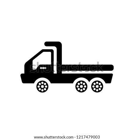 flatbed lorry icon. Trendy flatbed lorry logo concept on white background from Transportation collection. Suitable for use on web apps, mobile apps and print media.