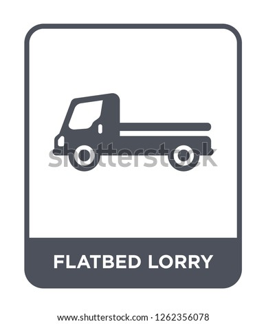 flatbed lorry icon vector on white background, flatbed lorry trendy filled icons from Transportation collection, flatbed lorry simple element illustration