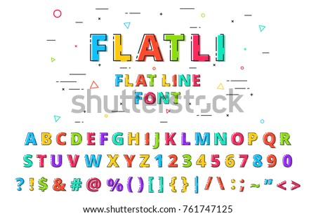 flatli flat line font latin