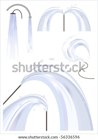 Flattered water in different conditions, stylized design