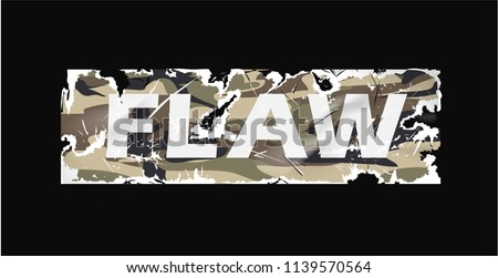 flaw camouflage sticker worn...