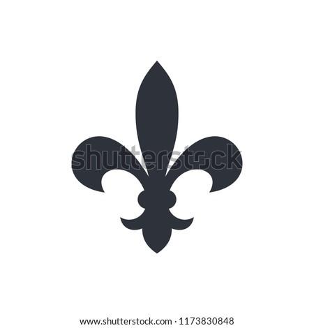 fleur de lis heraldic icon  Photo stock ©