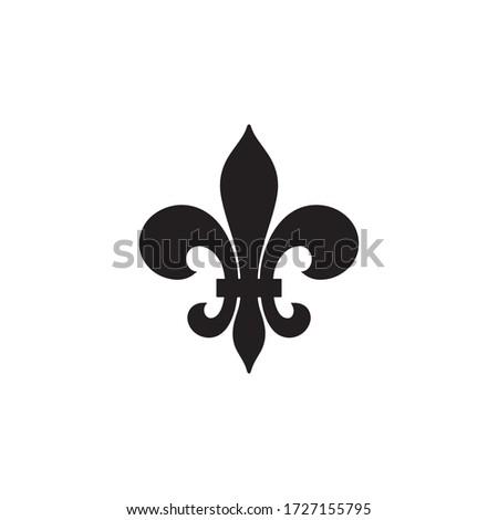 Fleur de Lis Heraldic Icon In Trendy  Design Vector Eps 10 Photo stock ©