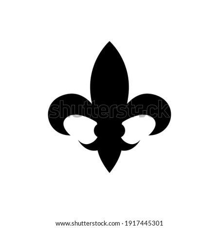 fleur de lis heraldic icon on white background Photo stock ©
