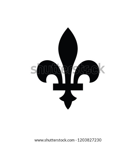 fleur-de-lis or lily flower icon. new orlean symbol of support and recovery. royal french heraldic symbol. isolated on white background. vector illustration Photo stock ©