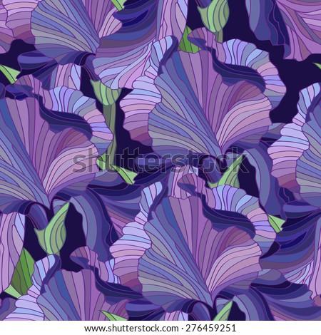 fleur de lis seamless floral